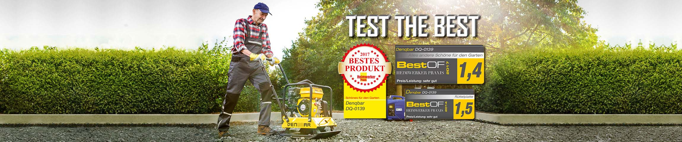 Test The Best - plaques vibrantes par DENQBAR