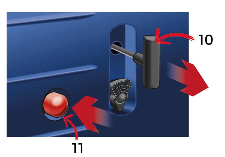 Aufbau eines Inverter Stromerzeugers mit Benzinpumpe und Seilzug
