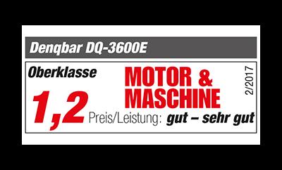 Motor & Maschine Expertentest: Note 1,2 Sehr Gut