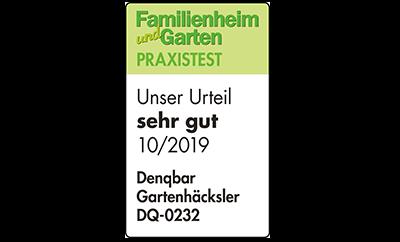 """Familienheim und Garten (10/2019), Testurteil """"sehr gut"""""""