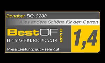 Heimwerker Praxis erwählt DENQBAR Gartenhäcksler als Best of 2018