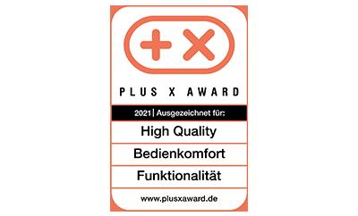 """Plus X Award 2021 für """"High Quality"""", """"Funktionalität"""" und """"Bedienkomfort"""" DQ-2100"""