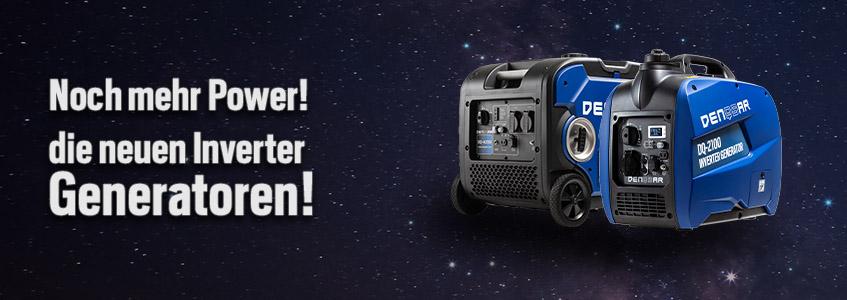 Noch mehr Power – die neuen Inverter Generatoren!