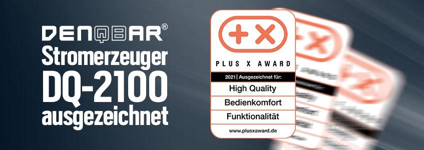 Unser DQ-2100 wurde mit dem Plus X Award ausgezeichnet!