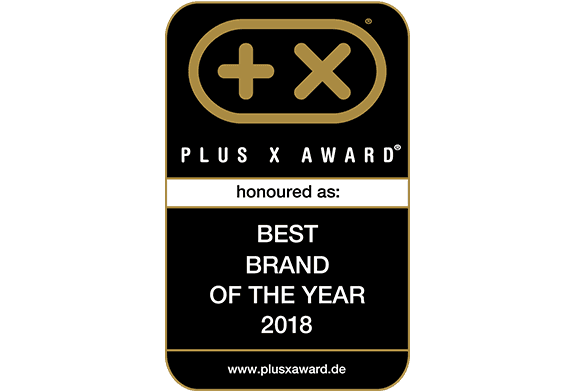 Plus X Award - Best brand of the year 2018