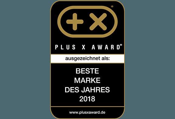 Plus X Award - Beste Marke des Jahres 2018