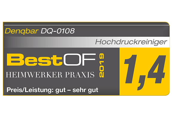 DENQBAR high pressure washer - Heimwerker Praxis, annual award Best of 2019