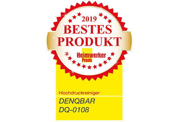 DENQBAR high pressure washer receives 'Product of the Year 2019' award from 'Heimwerker Praxis'