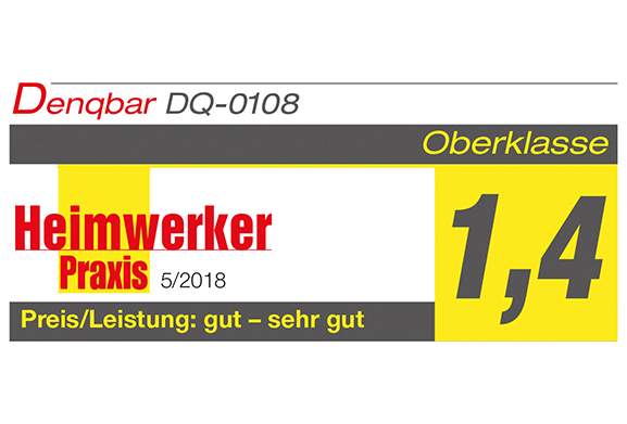 DENQBAR high pressure washer receives a grade of 1.4 at Heimwerker Praxis