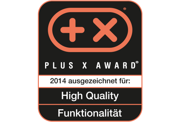 PLUS X Award for High Quality and Functionality