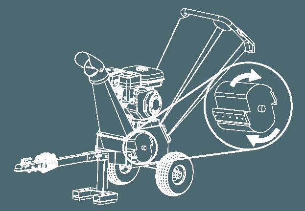 Funktion des Gartenhäckslers