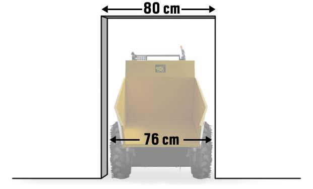 DENQBAR Mini Dumper passt auch durch die schmalste Lücke