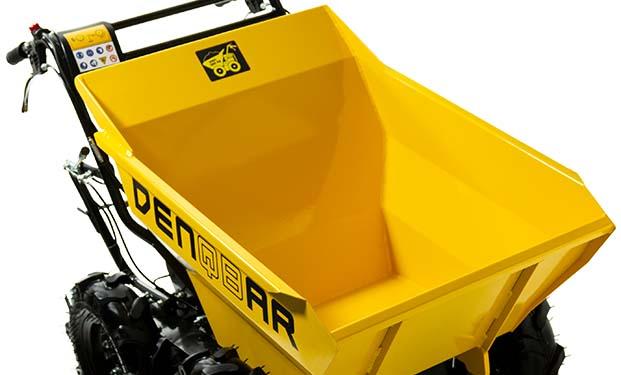Mit dem DENQBAR Mini Dumper bis zu 300 kg Nutzlast wegtransportieren
