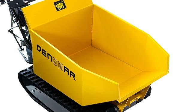 Mit dem DENQBAR Mini Dumper bis zu 500 kg Nutzlast wegtransportieren