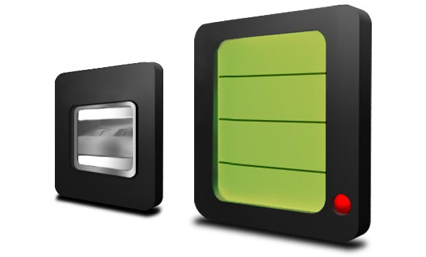 DENQBAR Stromerzeuger mit Display und USB-Anschluss
