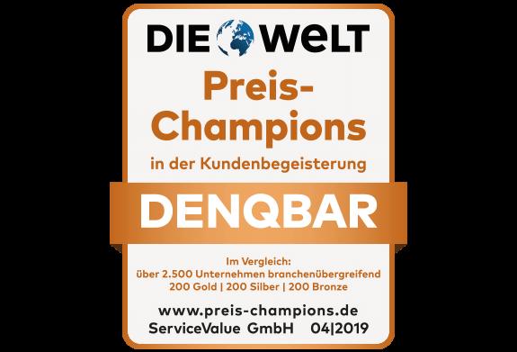 DENQBAR Preis-Champion: Hier stimmt Qualität und Preis
