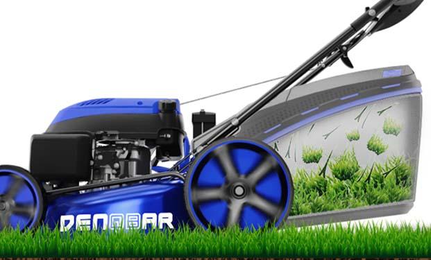 DENQBAR Rasenmäher DQ-R46 - Grasfangkorb mit 65 L Volumen