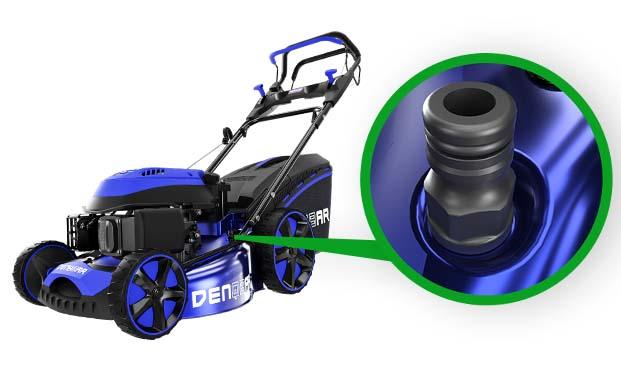 DENQBAR Rasenmäher DQ-R51EV - Reinigungsfunktion per Wasserschlauchanschluss