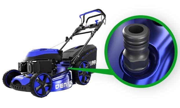 DENQBAR Rasenmäher DQ-R46 - Reinigungsfunktion per Wasserschlauchanschluss