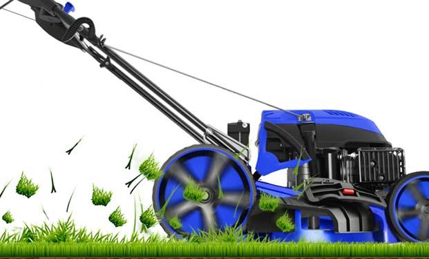 DENQBAR Rasenmäher DQ-R46 - Mähen mit seitlichem Auswurf