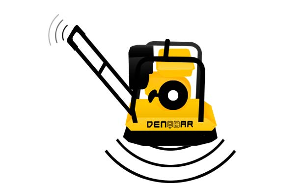 Work with DENQBAR professional plate compactor vibration-damped