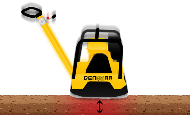 DENQBAR professional plate compactor with stationary vibrating