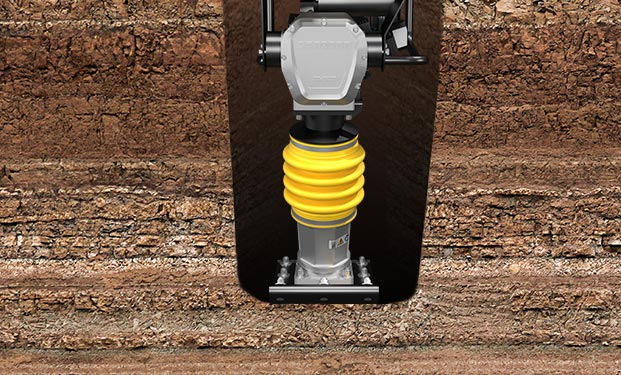Compact anywhere with the DENQBAR tamping rammer, even when things get tight