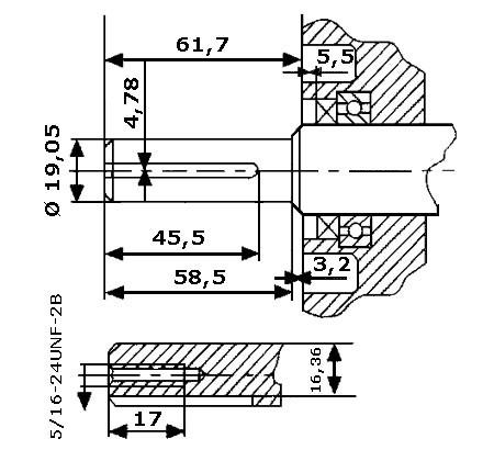 Universal Benzinmotor mit 4,8 kW (6,5 PS) 196 ccm 19,05 mm (3/4 Zoll) Welle Q-Typ