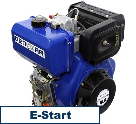 universal diesel engine 418 ccm 7.4 kW (10 HP) 25 mm with E-START