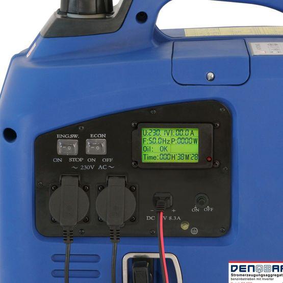 2.2 kW silent suitcase digital generator 230 V inverter