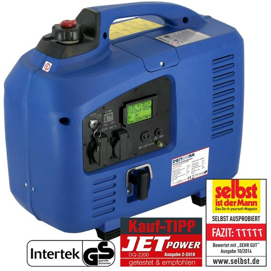 E-START 2.2 kW silent suitcase digital generator 230 V inverter