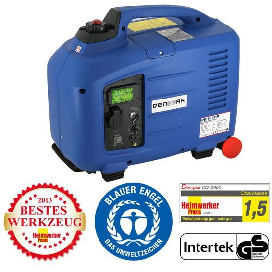 E-START 2.8 kW silent suitcase digital generator 230 V inverter