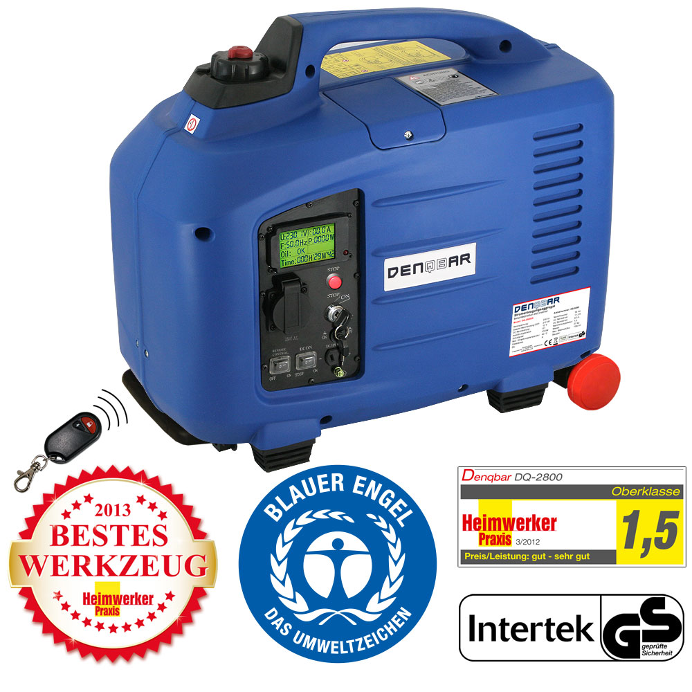 remote  start  kw silent suitcase digital generator
