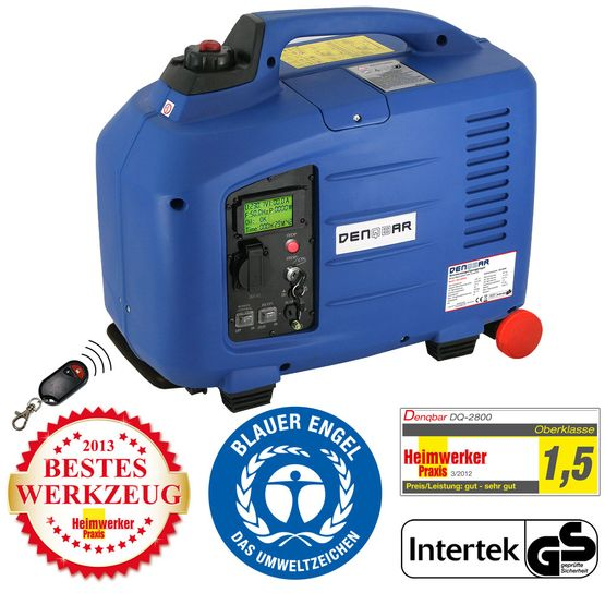 REMOTE & E-START 2.8 kW silent suitcase digital generator 230 V inverter