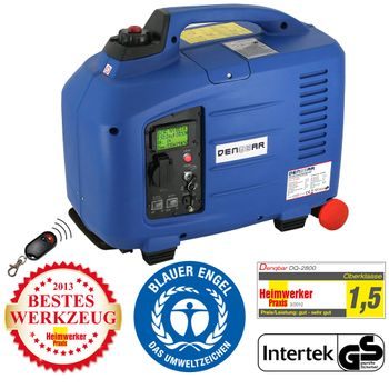 REMOTE & E-START 2,8 kW Digitaler Inverter Stromerzeuger, Generator benzinbetrieben
