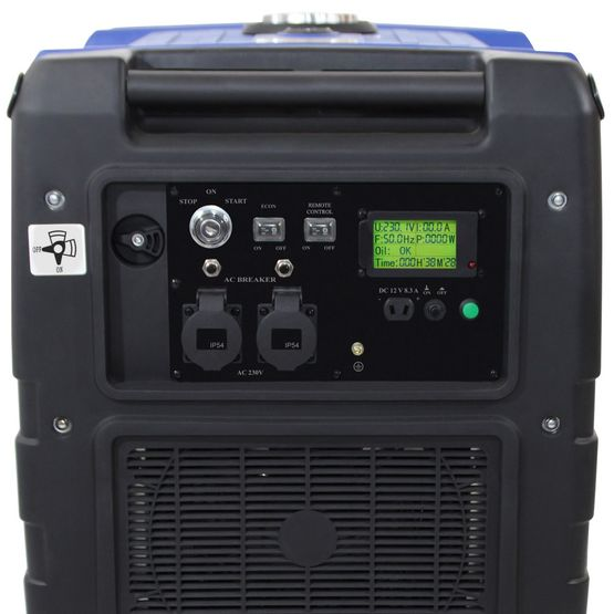 REMOTE + E-START 5,6 kW Digitaler Inverter Stromerzeuger, Generator benzinbetrieben