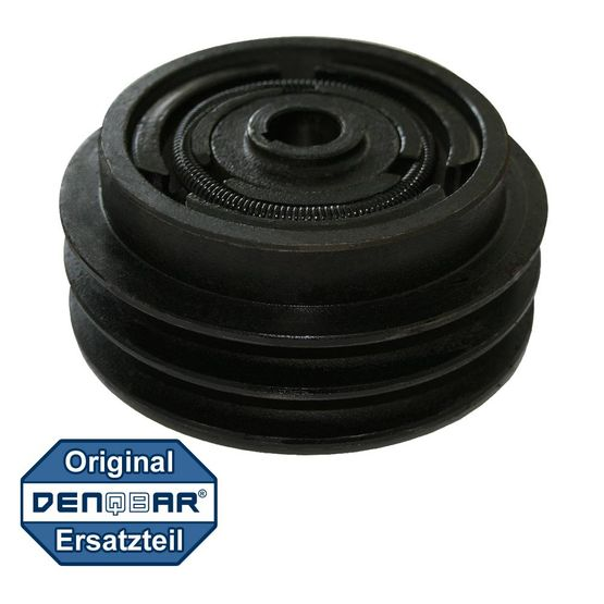 double v-belt clutch with 20 mm crankshaft diameter