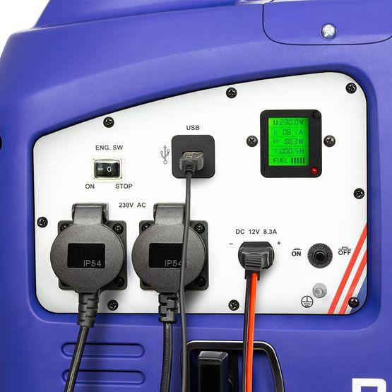 eBLUE® 2,5 kW Digitaler Inverter Stromerzeuger, Generator benzinbetrieben