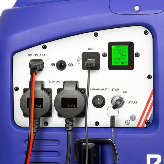 eBLUE® REMOTE & E-START 2,5 kW Digitaler Inverter Stromerzeuger, Generator benzinbetrieben