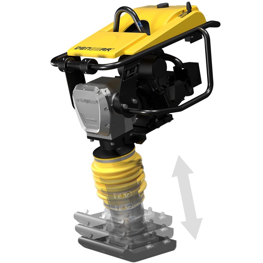 DENQBAR Stampfer 78 kg Vibrationsstampfer inkl. Fahrwerk DQ-0285