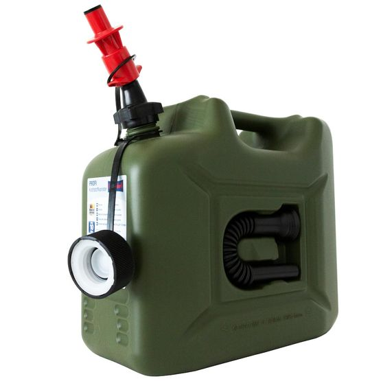 10 L fuel canister with security nozzle